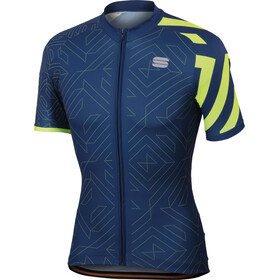 Sportful Graphic 1 Trendy Jersey Men twilight/blue/yellow fluo